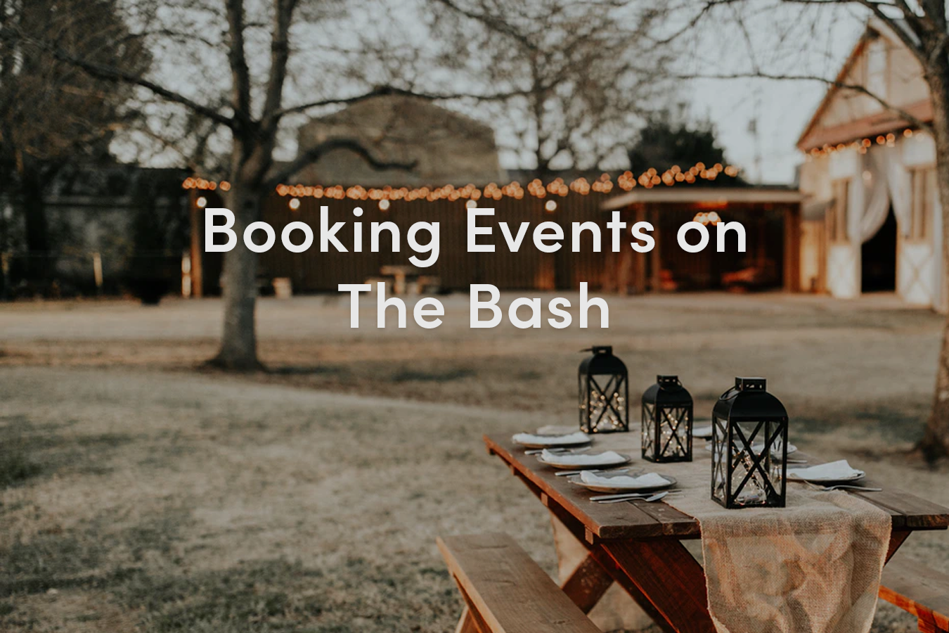 Booking Events on The Bash