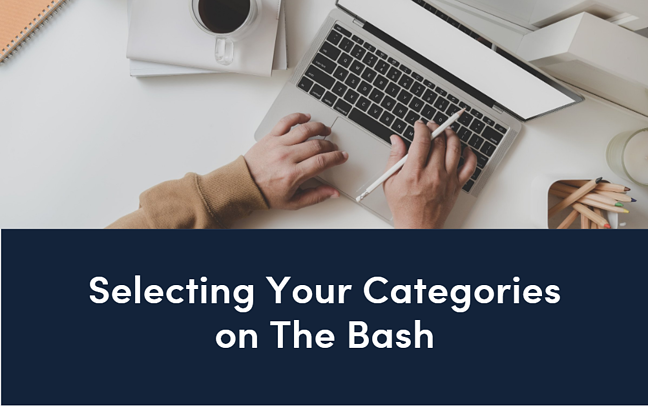 Selecting Your Categories on The Bash